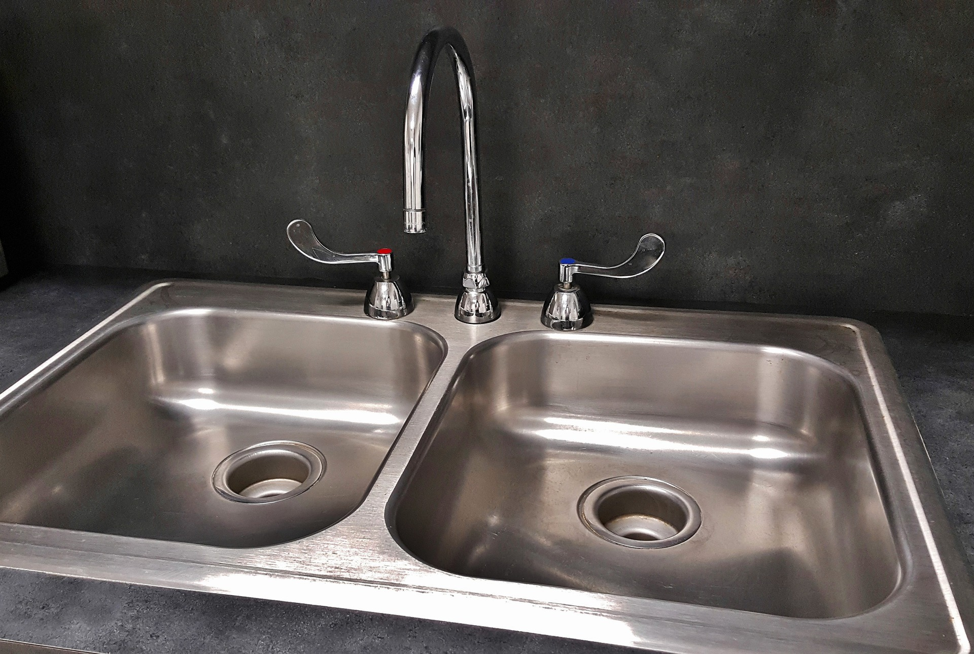 stainless steel double sided sink